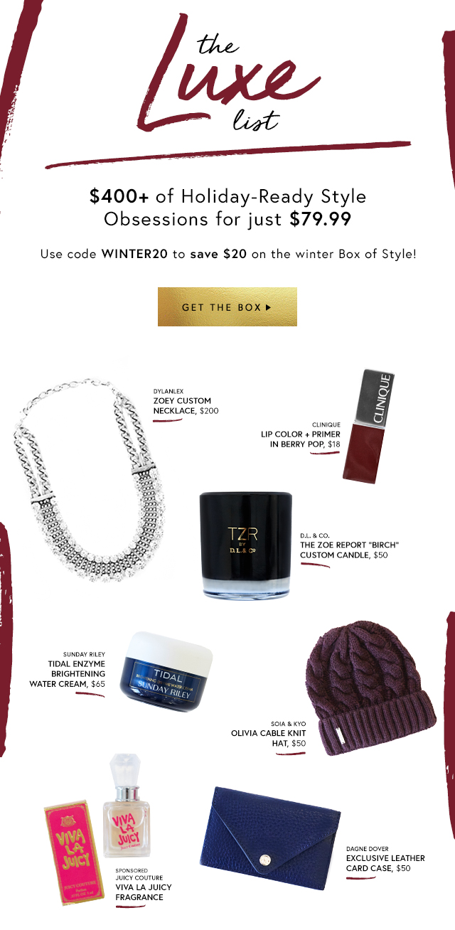 Your Holiday Survival Kit Plus $20 Off Code