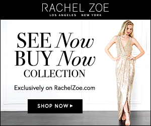 "New ""SEE Now BUY Now"" Banners for Rachel Zoe Collection"